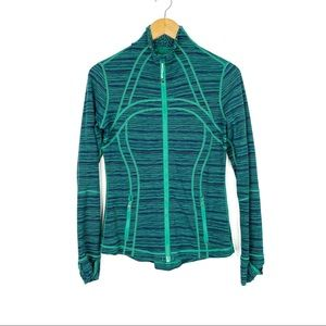 Lululemon Define Jacket Green Stripe Size 8